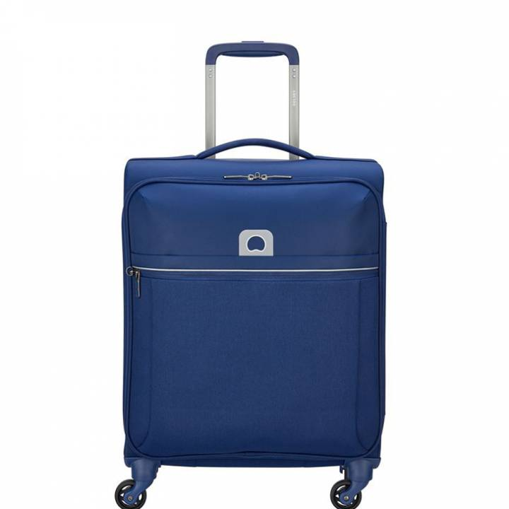 delsey brochant trolley cabina 55 cm slim 02255803 blu